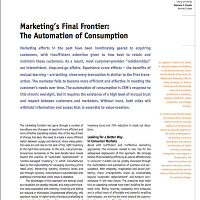 Marketing Final Frontier