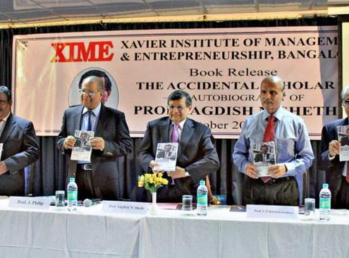 Dr Sheth at XIME Book Release