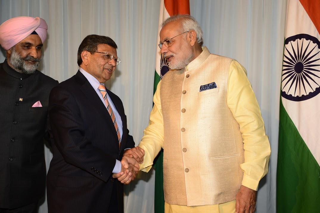 Dr. Sheth with Prime Minister Modi